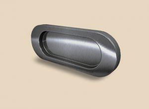 Ручка серебро глянец овальная Италия Азов
