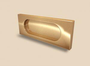 Ручка Золото глянец прямоугольная Италия Азов