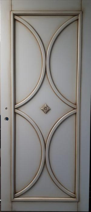 Межкомнатная дверь в профиле массив (эмаль с патиной) Азов