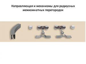 Направляющая и механизмы верхний подвес для радиусных межкомнатных перегородок Азов