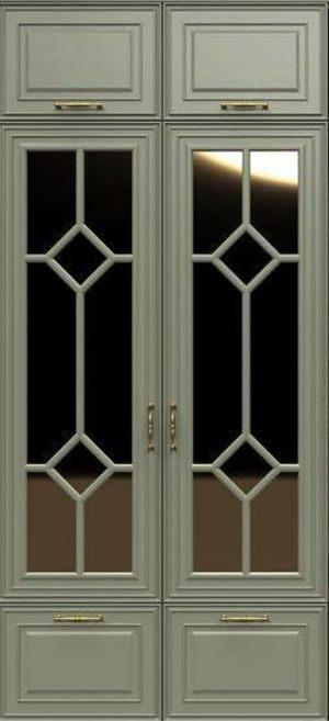 Фасад с фигурной филенкой эмаль Азов