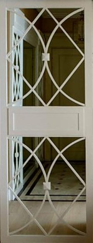 Вставка с фигурной филенкой на зеркале эмаль Азов