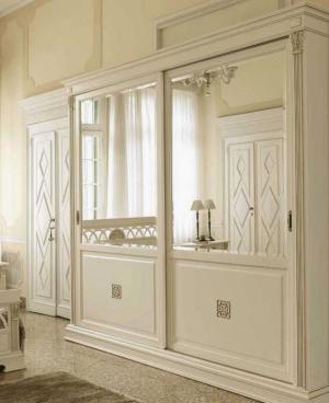Шкаф купе с филенкой и декоративной накладкой эмаль Азов