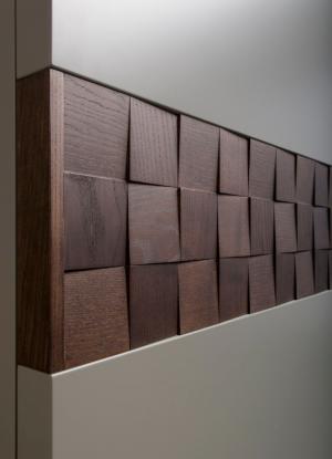 Вставка в двери с накладными квадратами шпон Азов