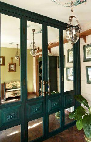 Распашные двери филенкой и декоративными накладками Азов